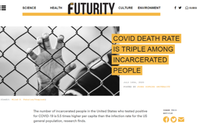 Covid death rate is 'triple' among incarcerated people